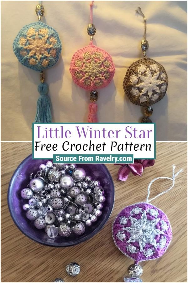 Free Crochet Little Winter Star