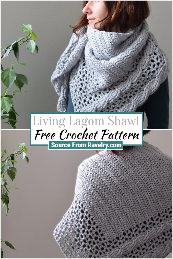 Free Crochet Living Lagom Shawl