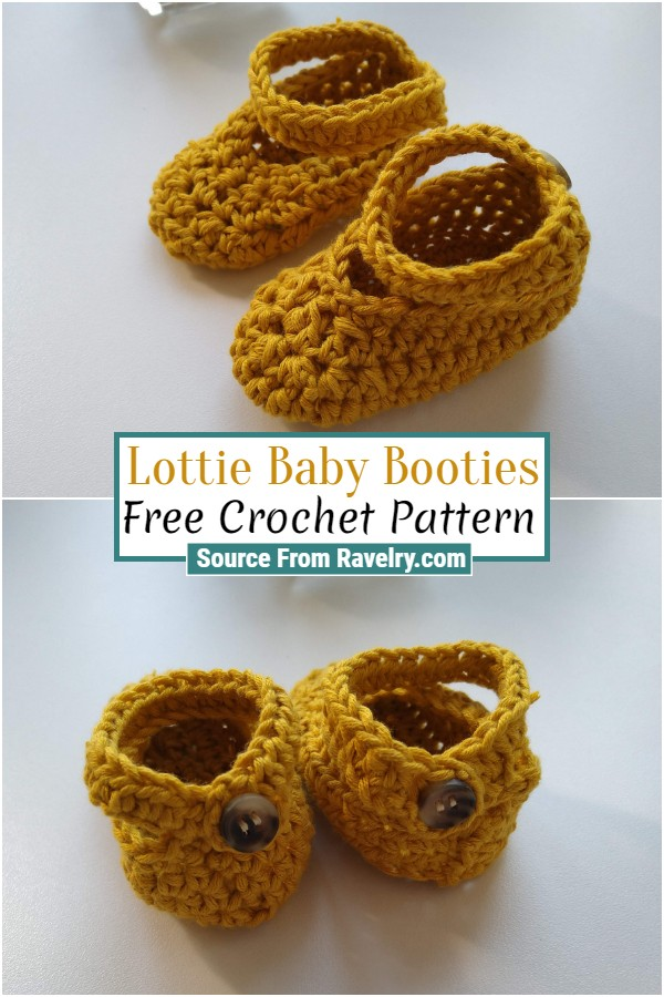 Free Crochet Lottie Baby Booties
