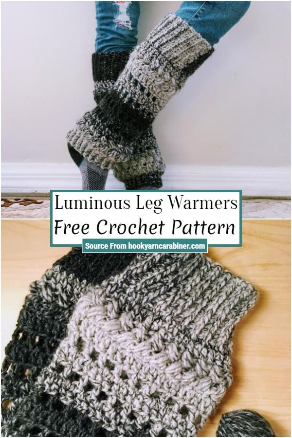 Free Crochet Luminous Leg Warmers
