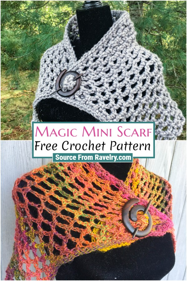 Free Crochet Magic Mini Scarf