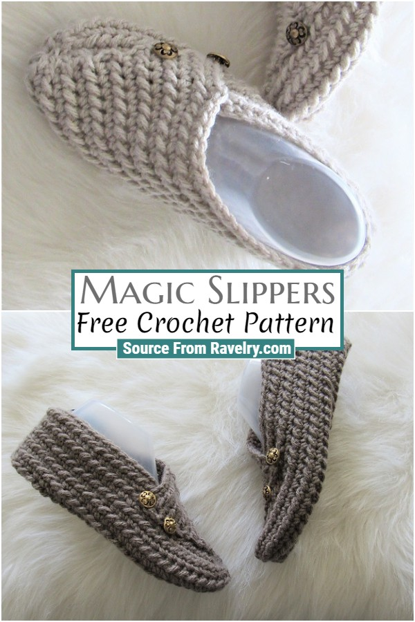 Free Crochet Magic Slippers