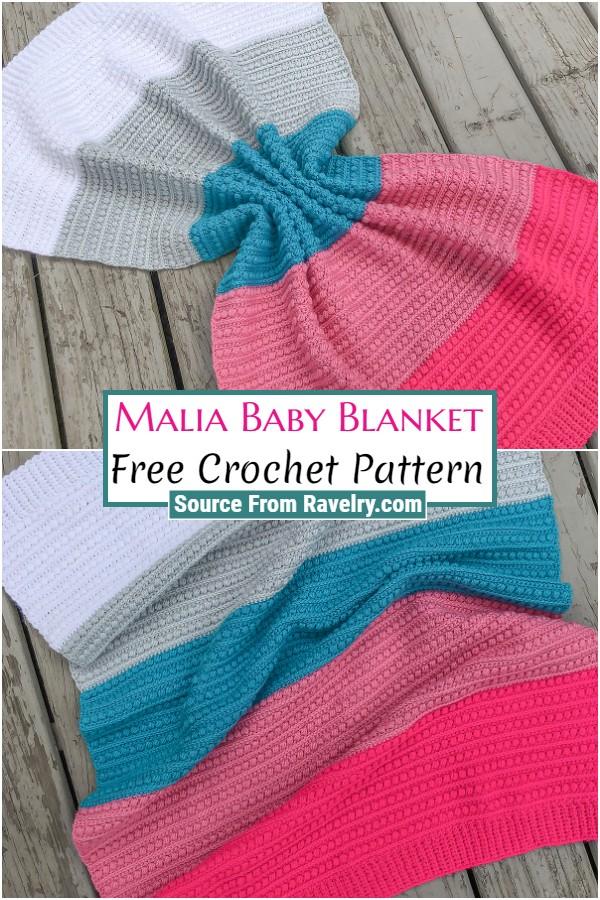 Free Crochet Malia Baby Blanket