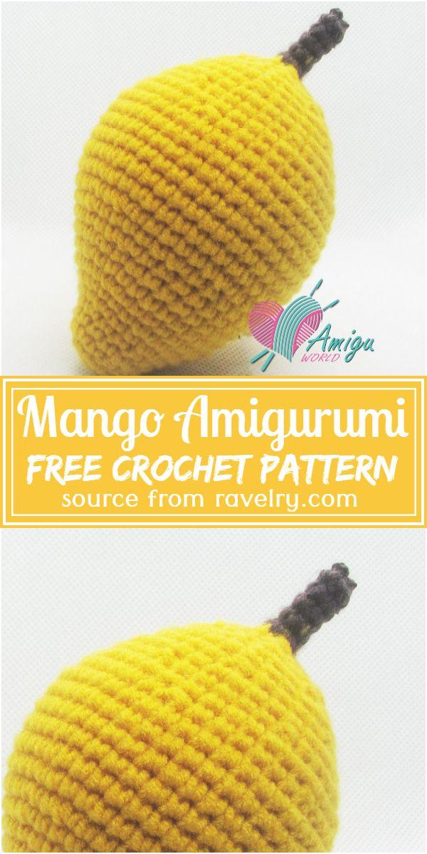 Free Crochet Mango Amigurumi Pattern