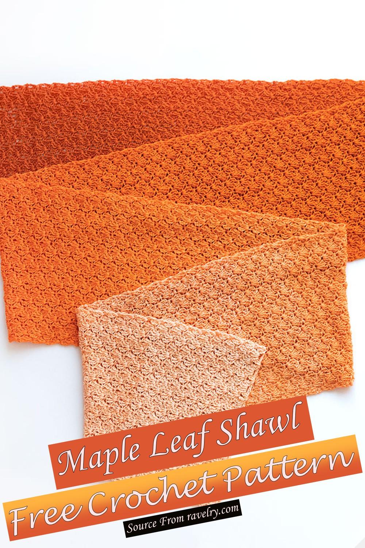 Free Crochet Maple Leaf Shawl Pattern