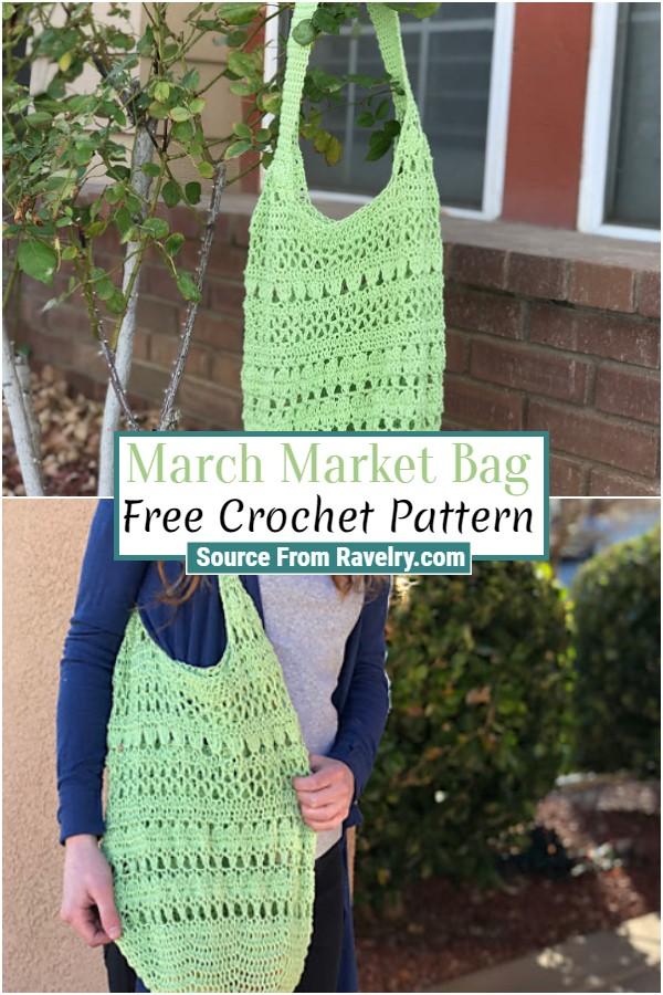 Free Crochet March Market Bag