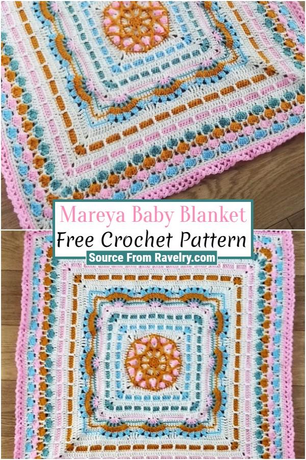 Free Crochet Mareya Baby Blanket