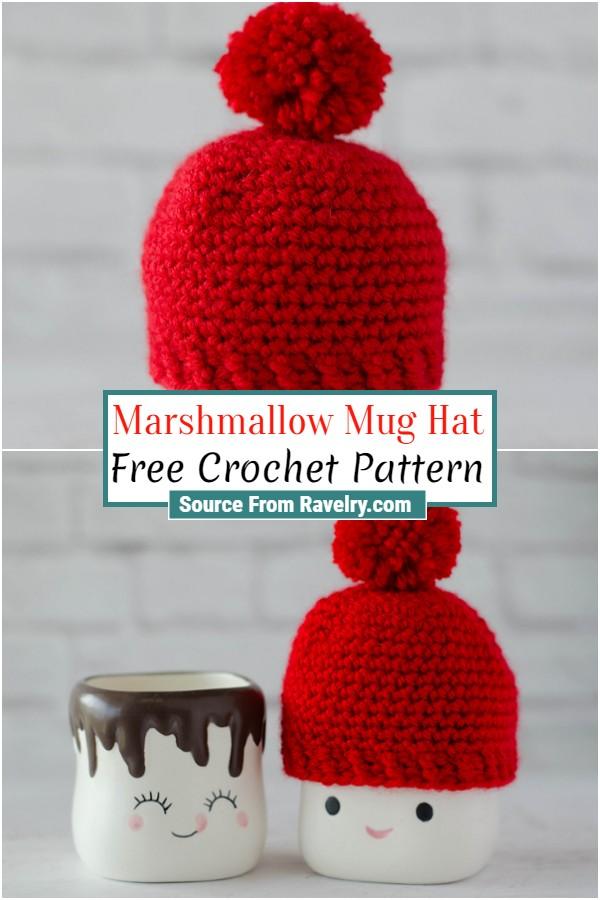 Free Crochet Marshmallow Mug Hat
