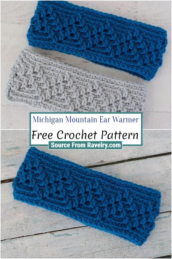 Free Crochet Michigan Mountain Ear Warmer