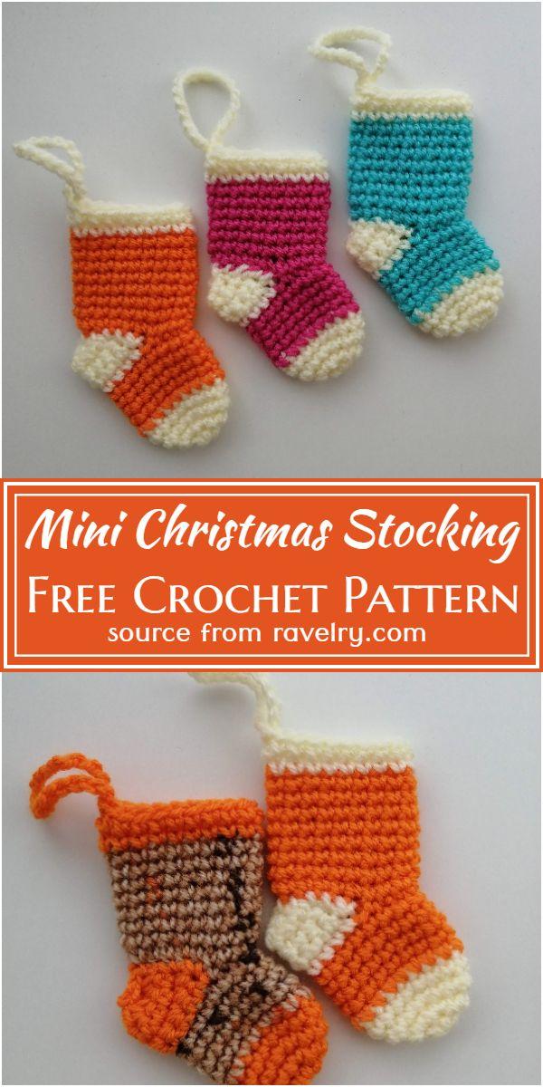 Free Crochet Mini Christmas Stocking Pattern