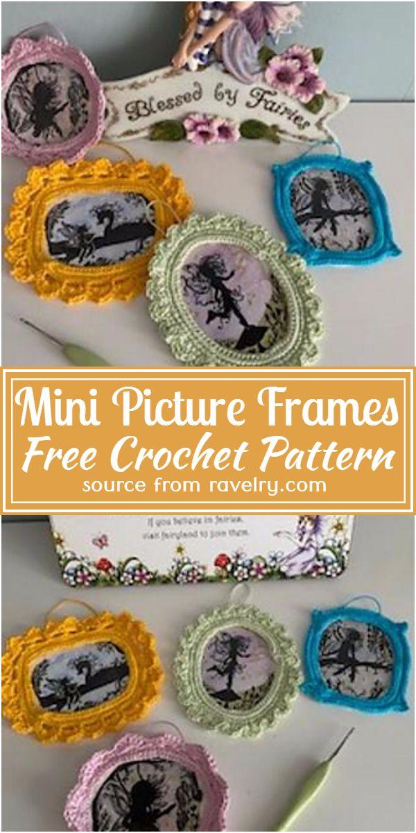 Free Crochet Mini Picture Frames Pattern