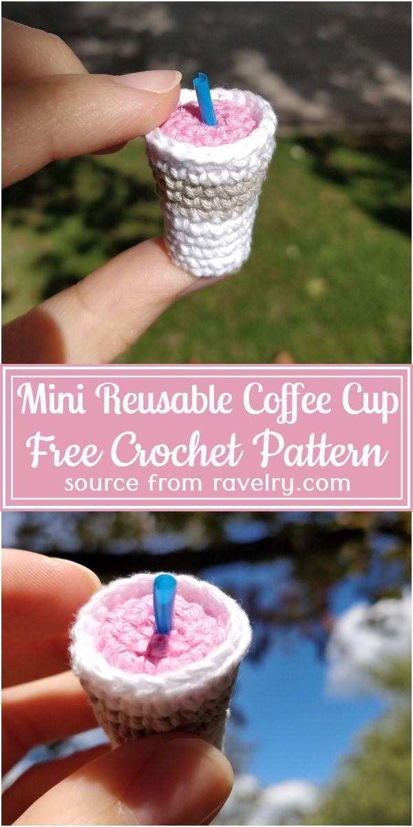 Free Crochet Mini Reusable Coffee Cup Pattern
