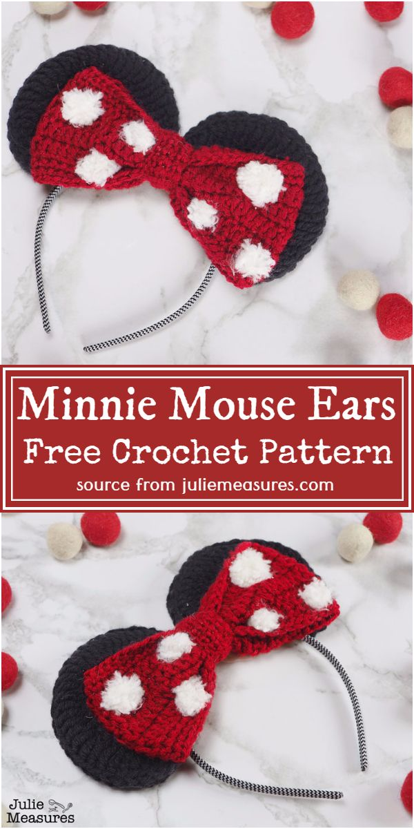 Free Crochet Minnie Mouse Ears Pattern