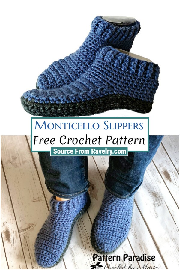 Free Crochet Monticello Slippers