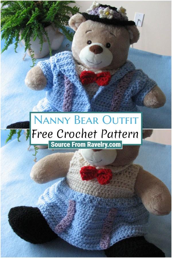 Free Crochet Nanny Bear Outfit
