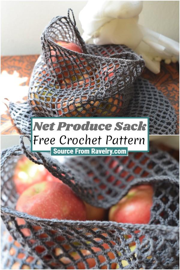 Free Crochet Net Produce Sack