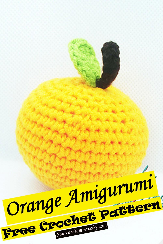 Free Crochet Orange Amigurumi Pattern