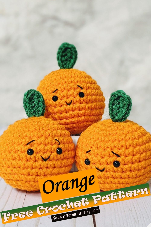 Free Crochet Orange Pattern