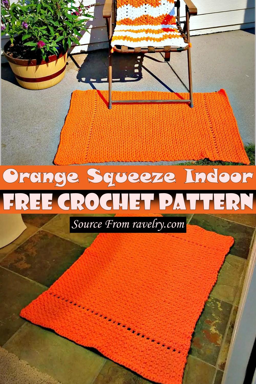 Free Crochet Orange Squeeze Indoor Pattern