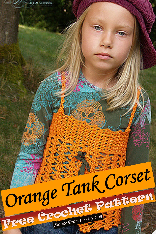Free Crochet Orange Tank Corset Pattern