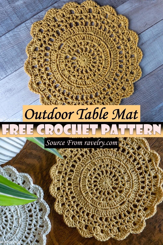 Free Crochet Outdoor Table Mat Pattern