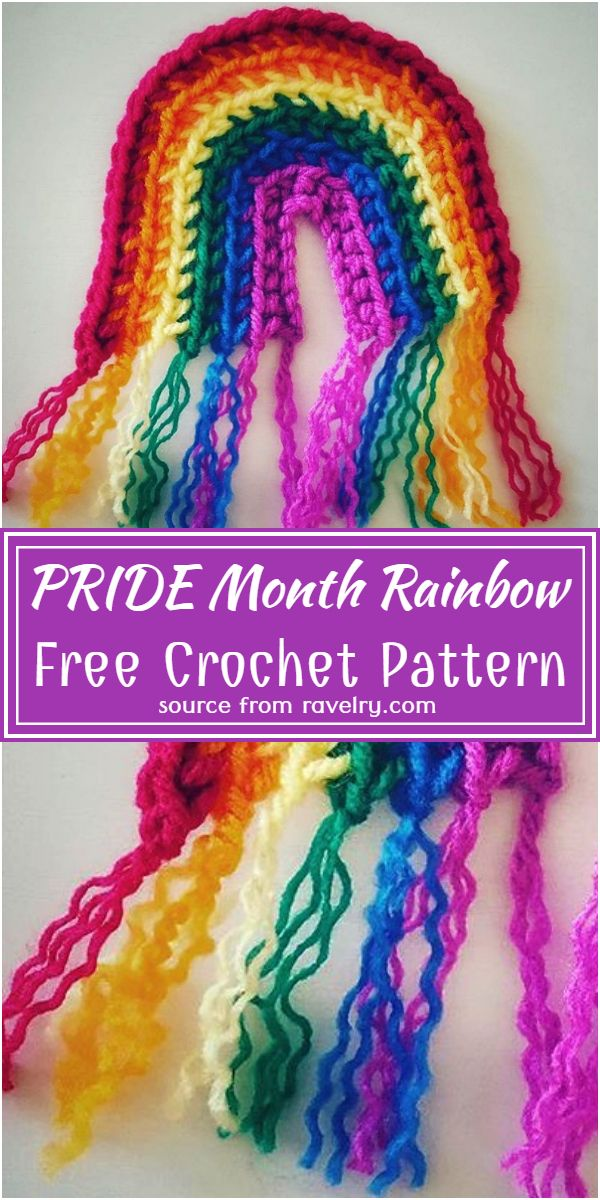 Free Crochet PRIDE Month Rainbow Pattern