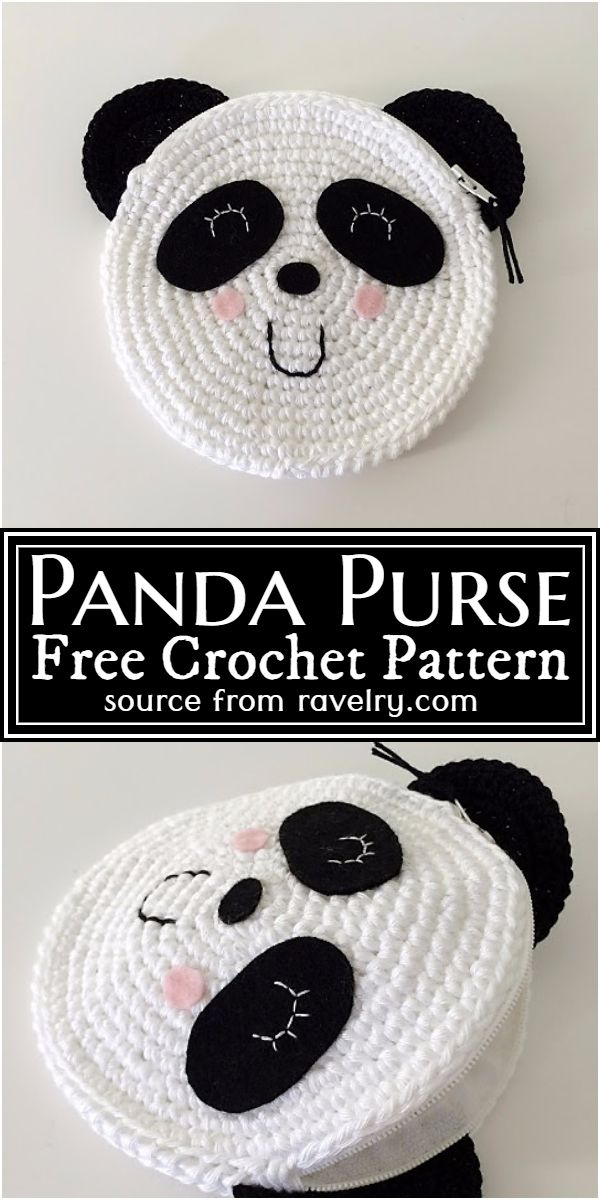 Free Crochet Panda Purse Pattern