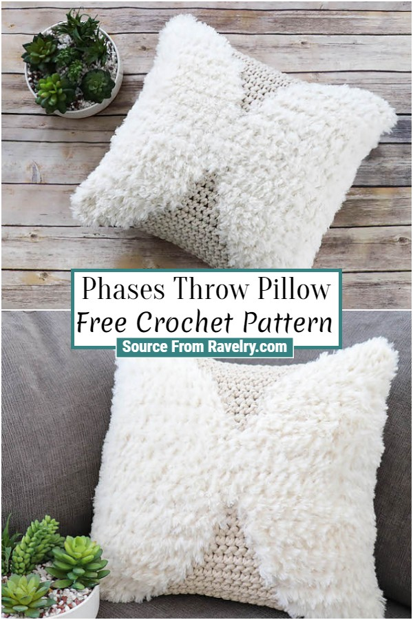 Free Crochet Phases Throw Pillow