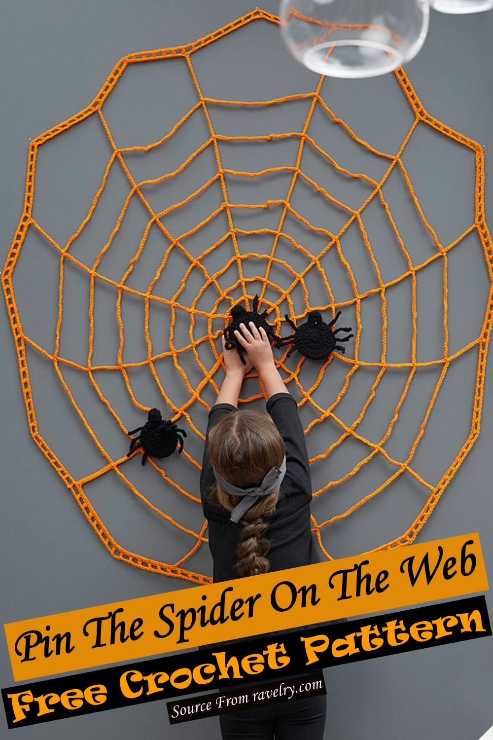 Free Crochet Pin The Spider On The Web Pattern