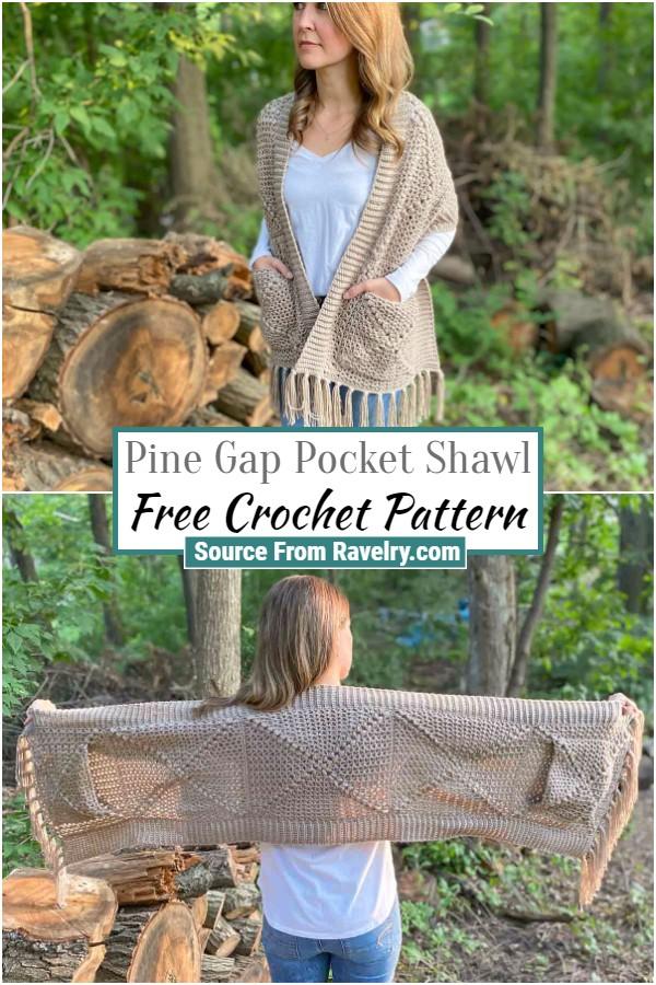 Free Pine Gap Pocket Shawl