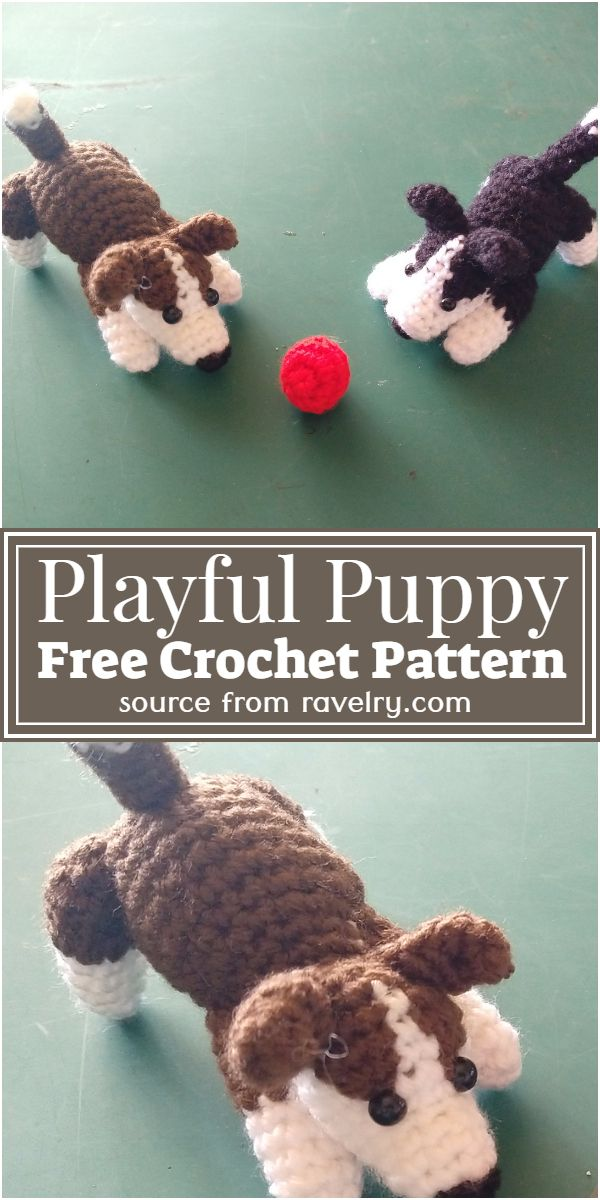 Free Crochet Playful Puppy Pattern