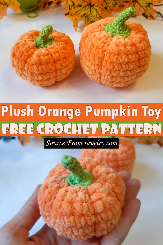 Free Crochet Plush Orange Pumpkin Toy Pattern