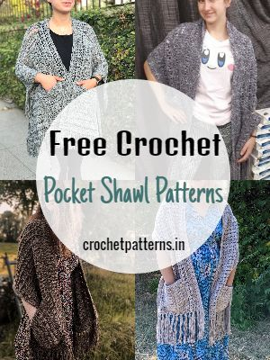 Free Crochet Pocket Shawl Patterns