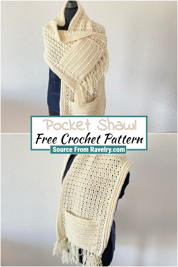 Free Crochet Pocket Shawl