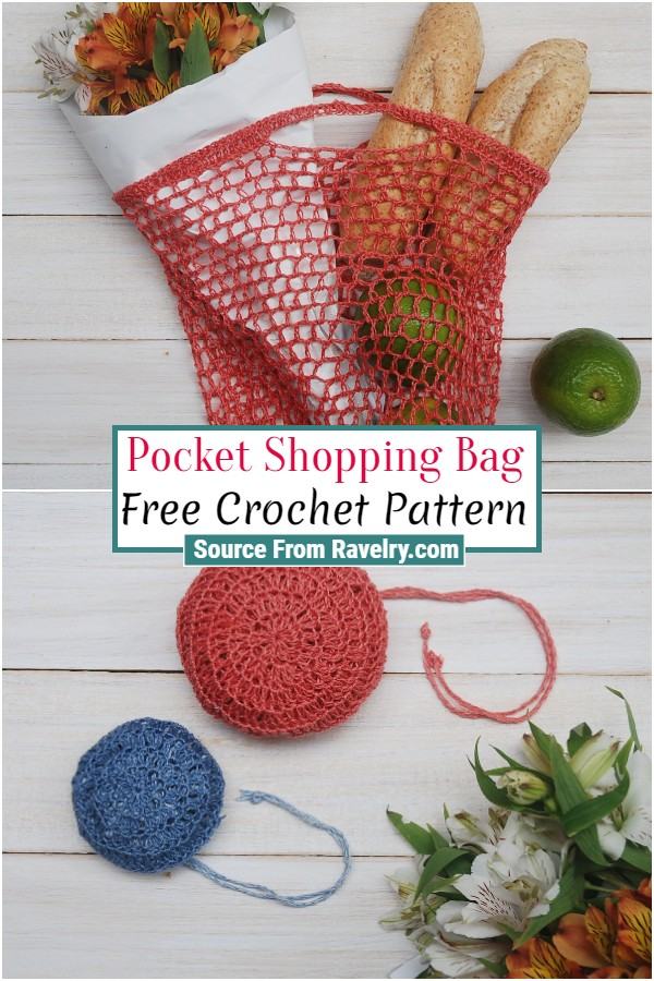 Free Crochet Pocket Shopping Bag