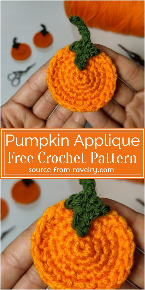 Free Crochet Pumpkin Applique Pattern