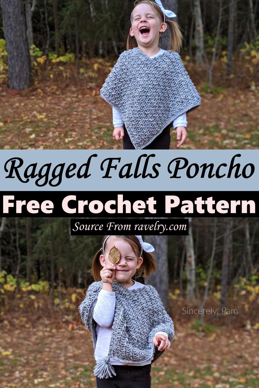 Free Crochet Ragged Falls Poncho Pattern
