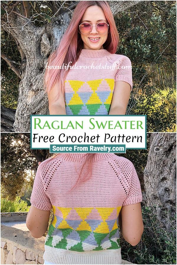 Free Crochet Raglan Sweater