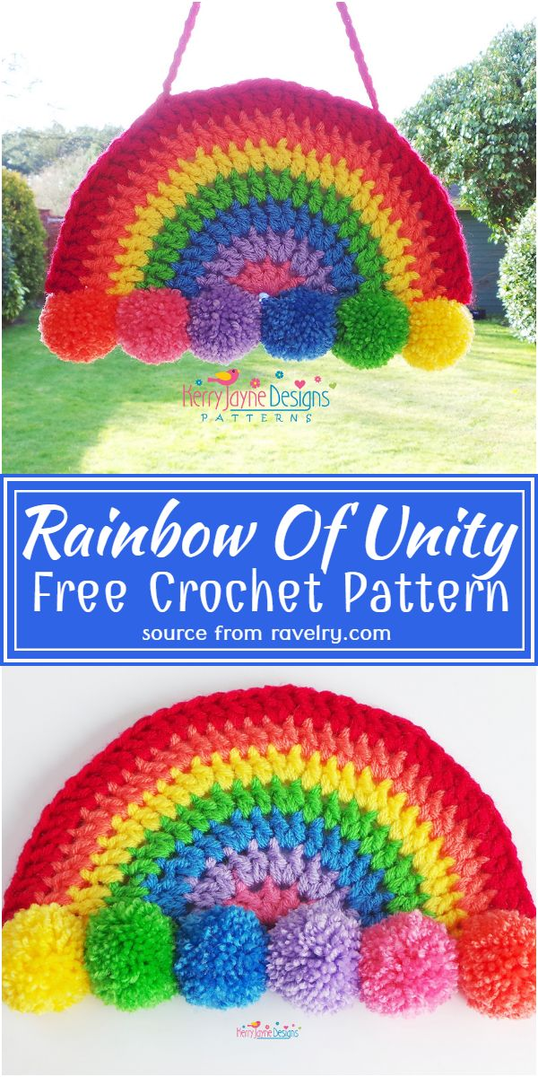Free Crochet Rainbow Of Unity Pattern
