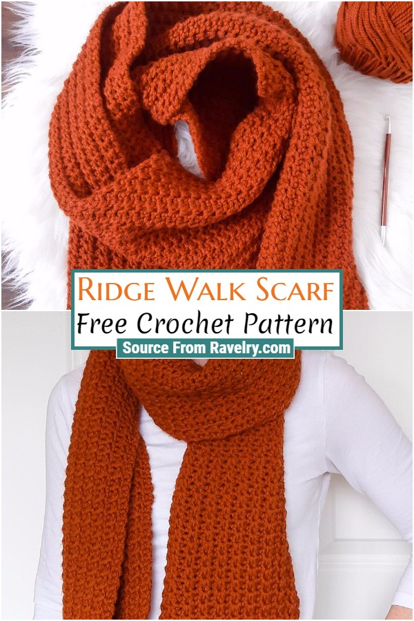 Free Crochet Ridge Walk Scarf