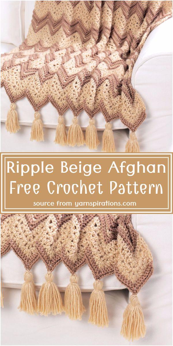 Free   Beige Afghan Pattern