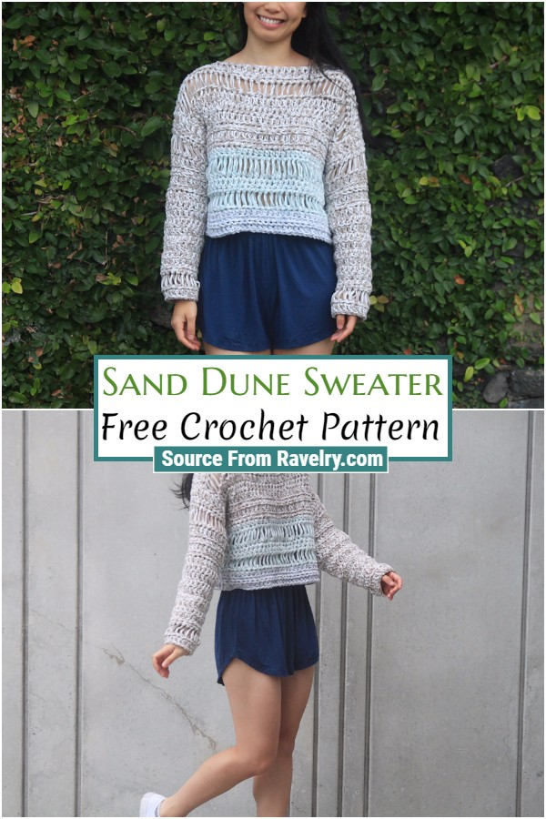Free Crochet Sand Dune Sweater
