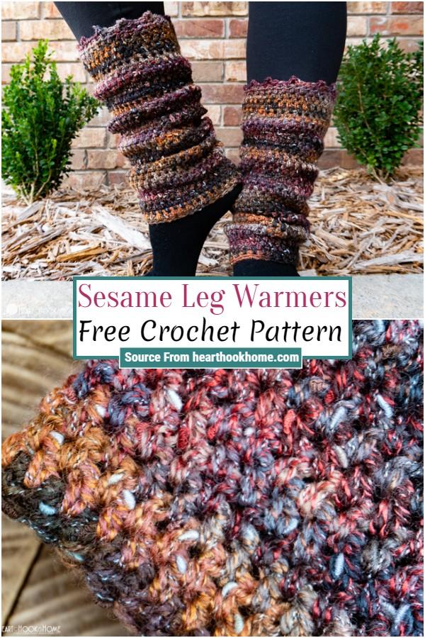 Free Crochet Sesame Leg Warmers 1