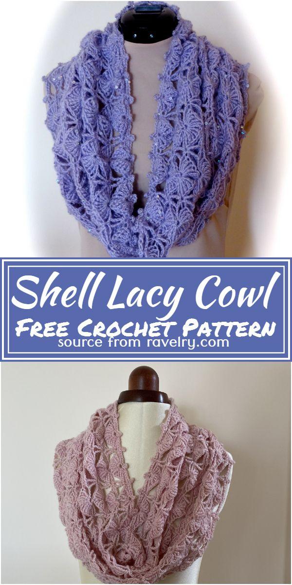 Free Crochet Shell Lacy Cowl Pattern