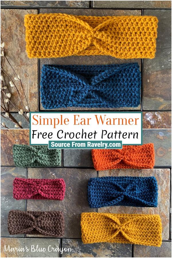 Free Crochet Simple Ear Warmer