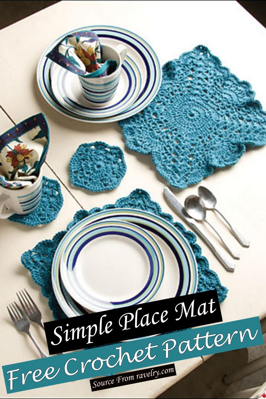 Free Crochet Simple Place Mat Pattern