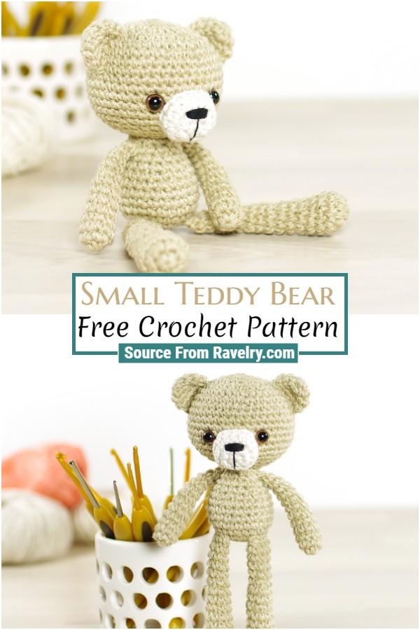 Free Crochet Small Teddy Bear