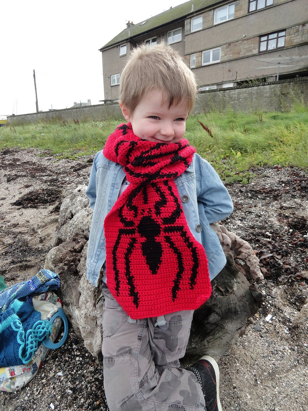 Free Crochet Spider And Web Scarf Pattern