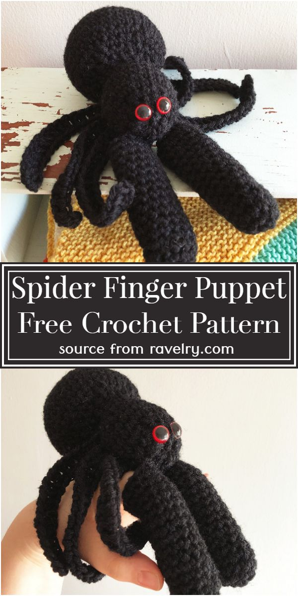 Free Crochet Spider Finger Puppet Pattern