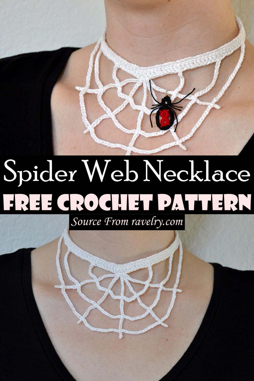 Free Crochet Spider Web Necklace Pattern
